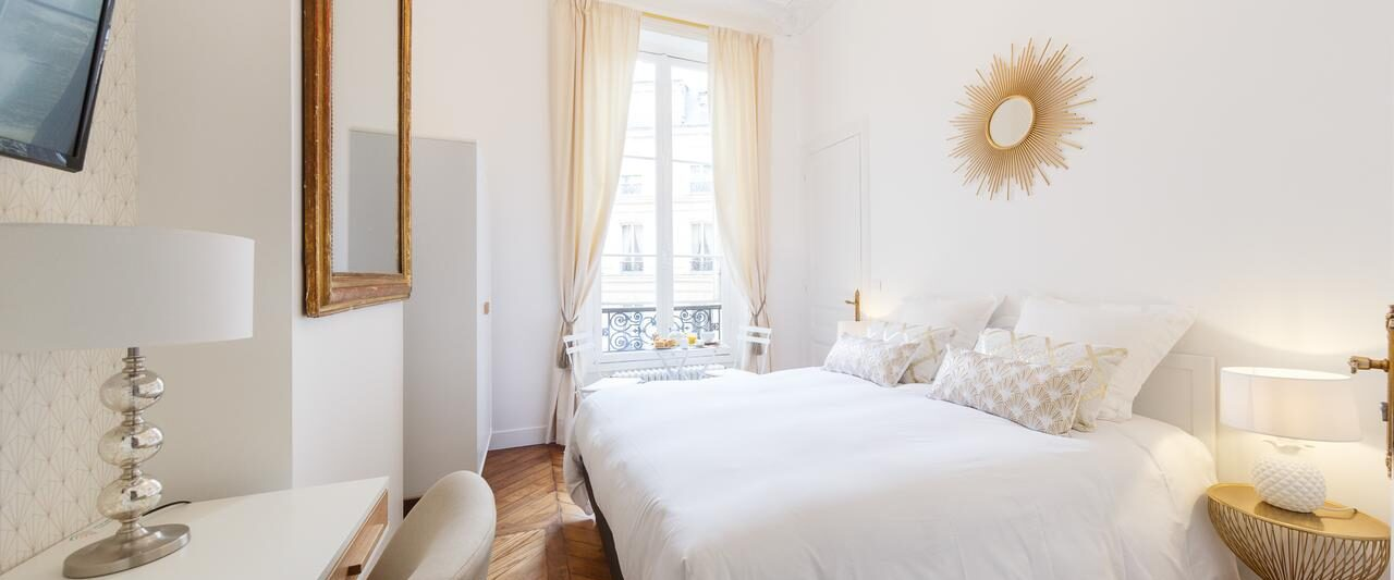 this boutique hotel in paris benefits from bright, modern decor