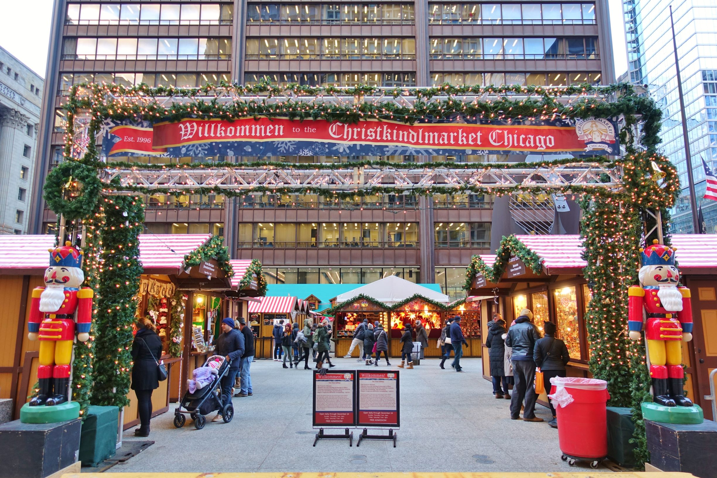 Photo of the ChristKindl Market in Chicago.