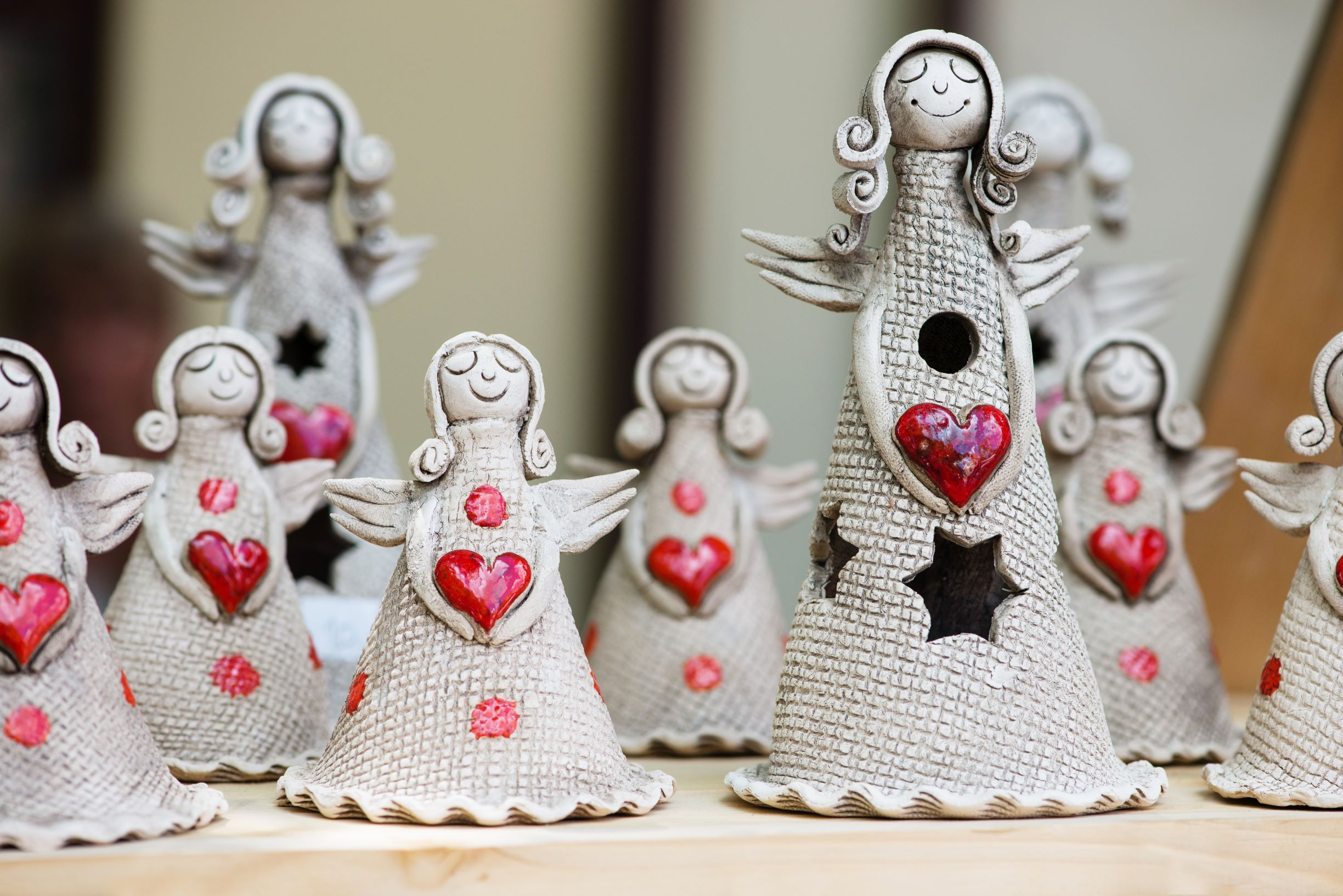 Photo of ceramic angels.