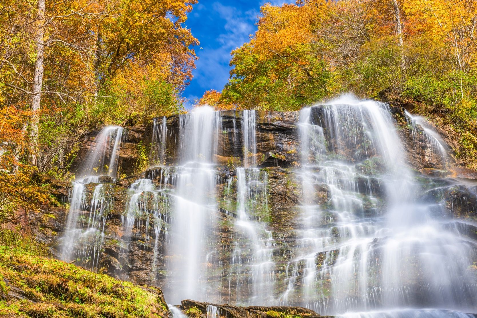 Photo of the stunning Amicalola Falls during Fall in Georgia.
