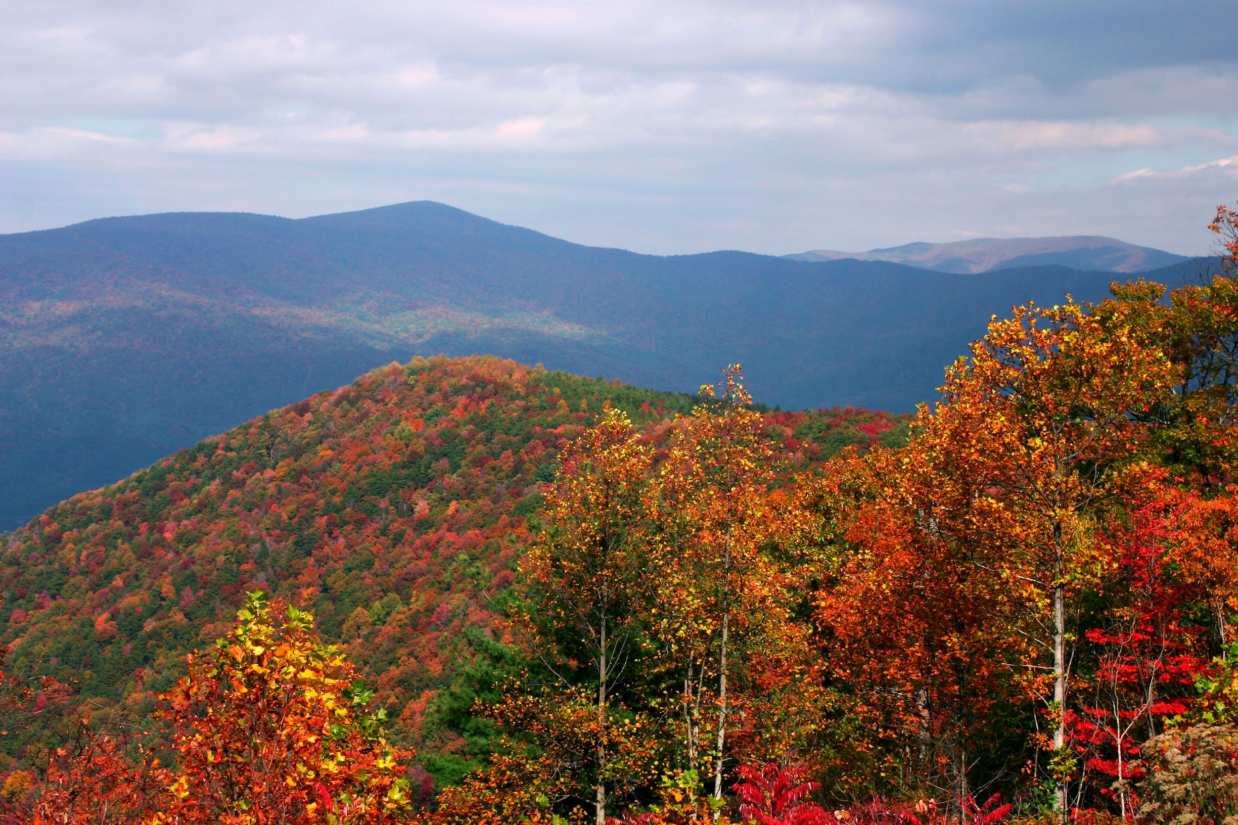 Photo of the view from Fort Mountain during Fall in Georgia