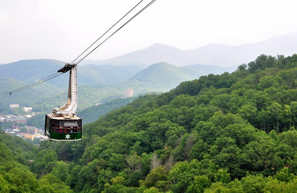 Tennessee Road Trip Gatlinburg Tram