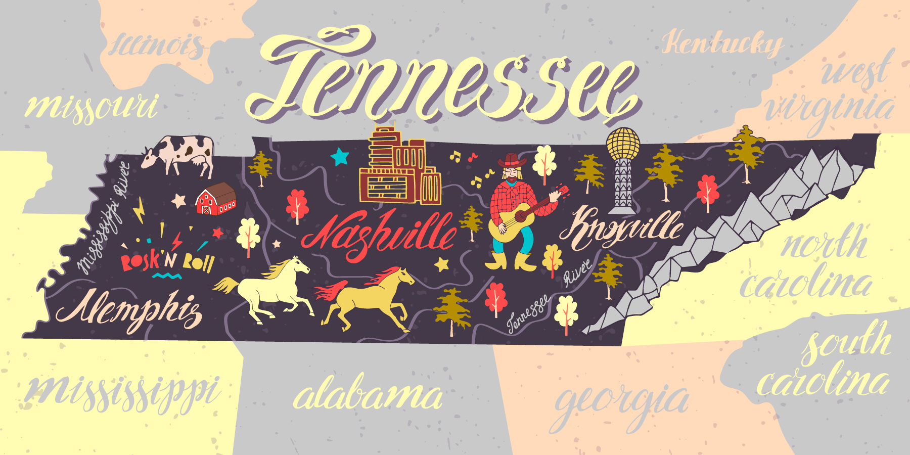 Tennessee Road Trip Map