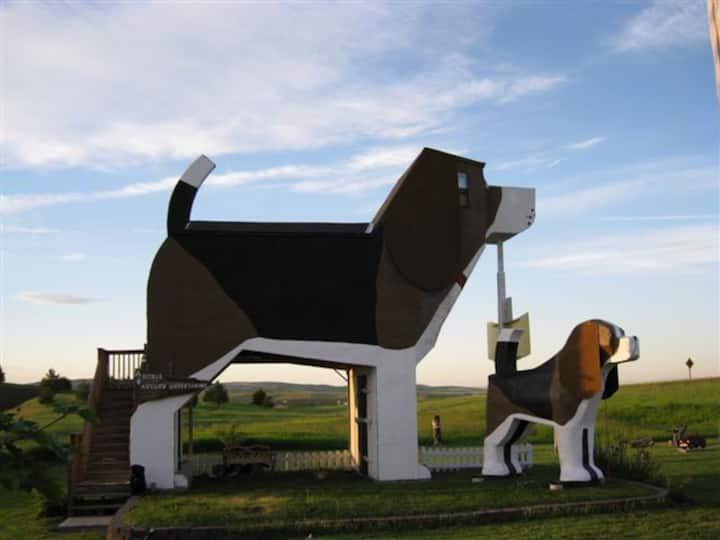 This dog shaped inn is unique and fun in Idaho!