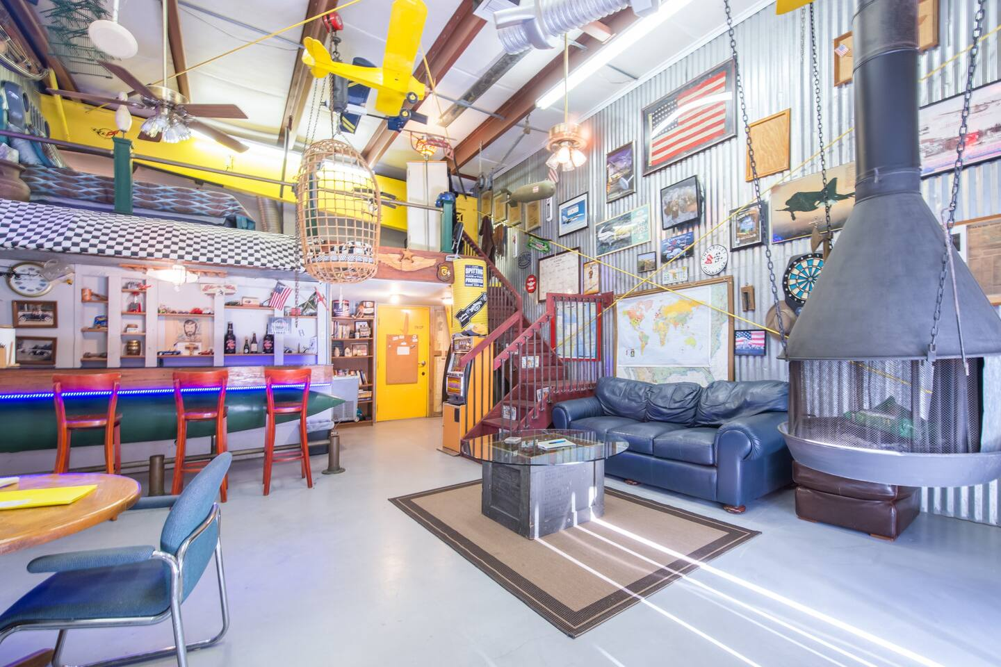 This Mancave is in an airplane glider is one of the best USA Airbnbs