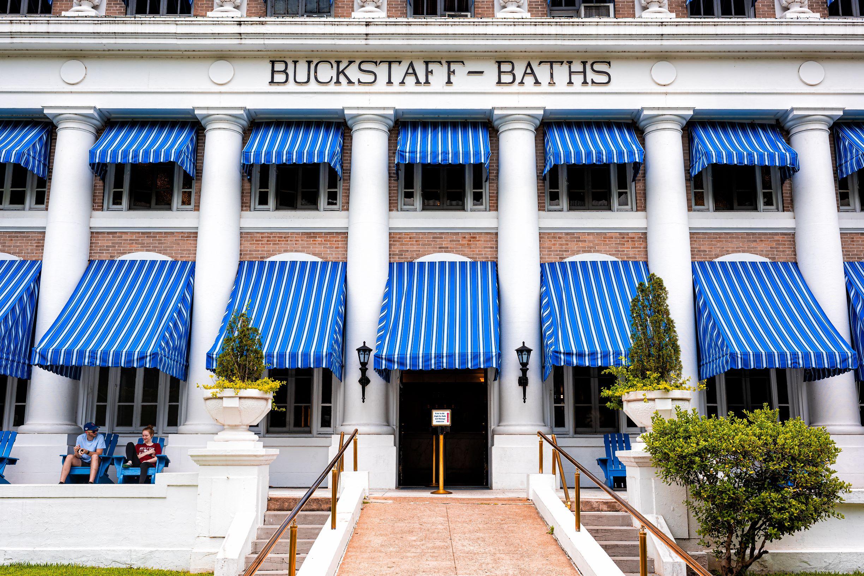 Photo of Buckstaff Bathhouse in Hot Springs, Arkansas.