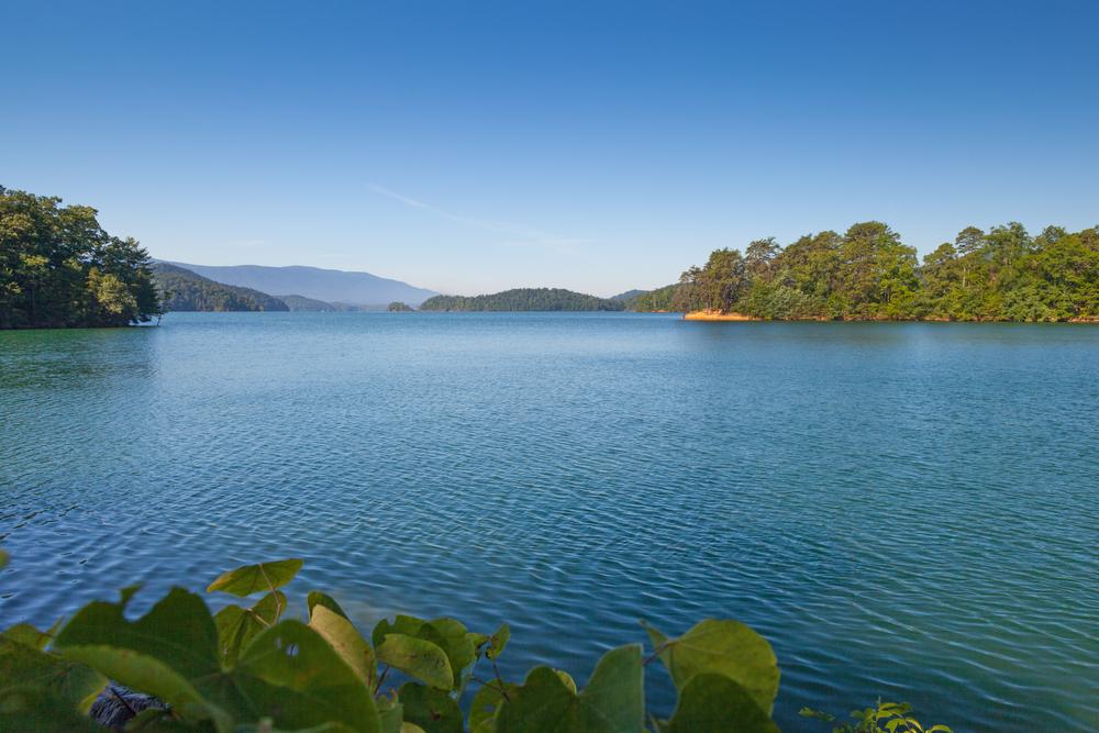 large blue lake in Bristol