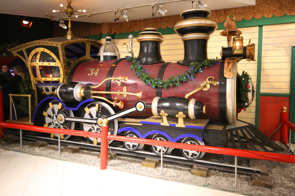 Lionel train at Macy's Santaland at Herald Square in
