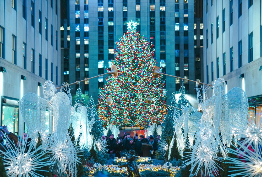 Christmas in New York Center Rockefeller's center