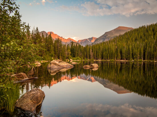 Colorado weekend getaways to Bear Lake at Rocky Mountain National Park from Estes Park