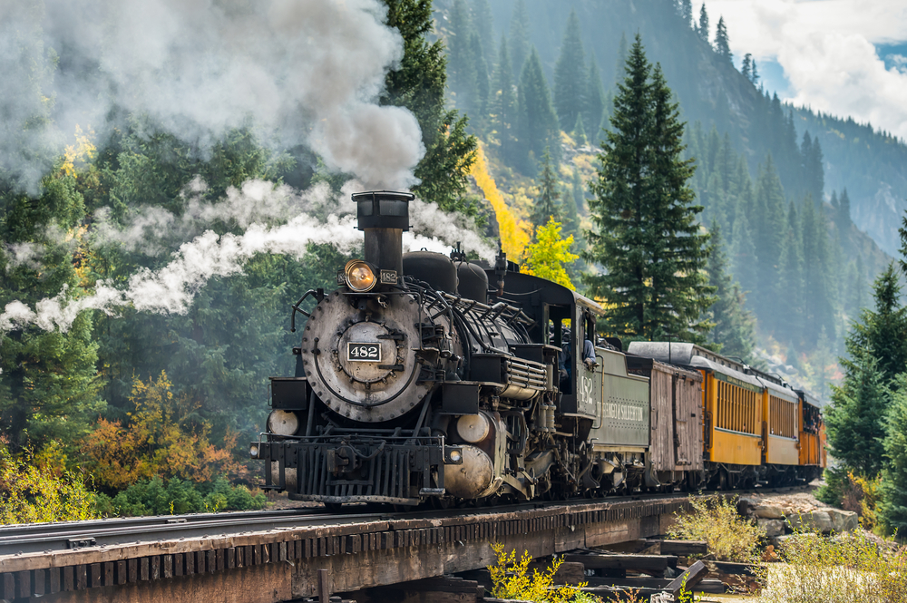 Colorado weekend getaways on the train from Durango to Silverton