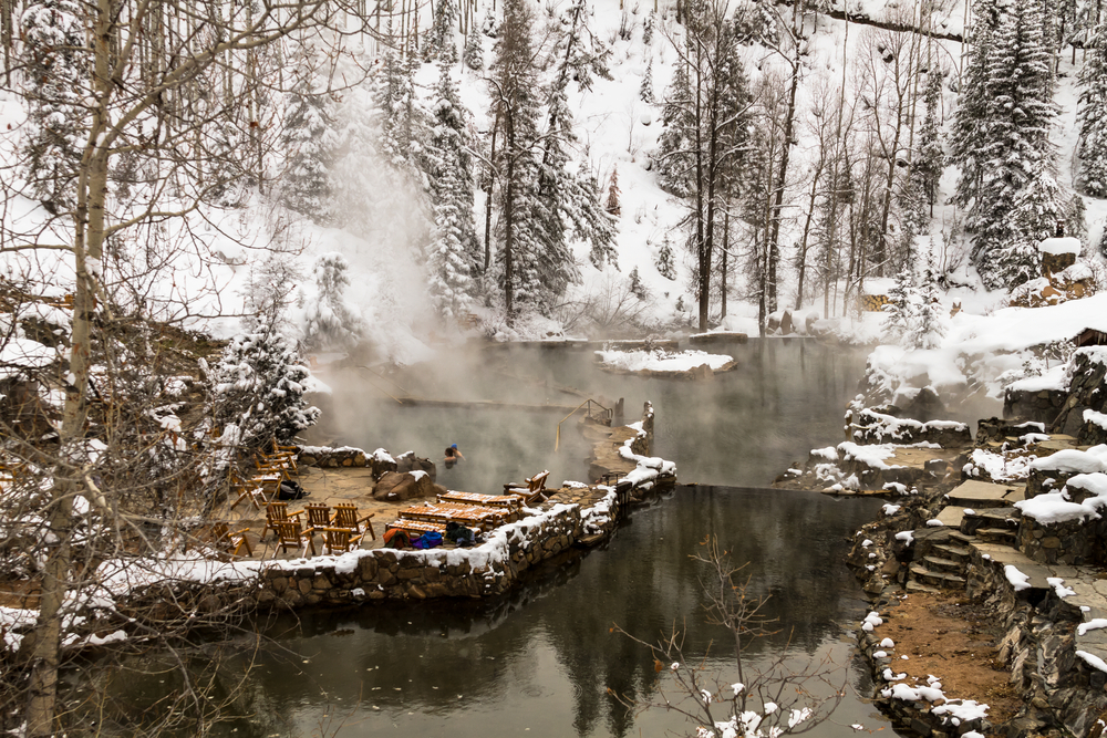 Colorado weekend getaways to the Strawberry Park Hot Springs in Steamboat Springs