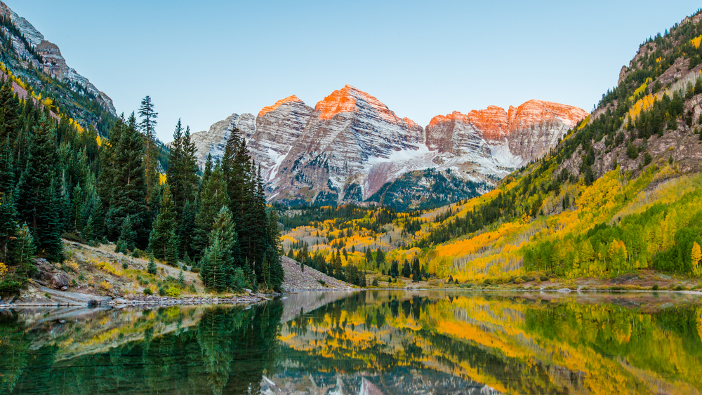 Colorado weekend getaways to the Maroon Bells in Aspen