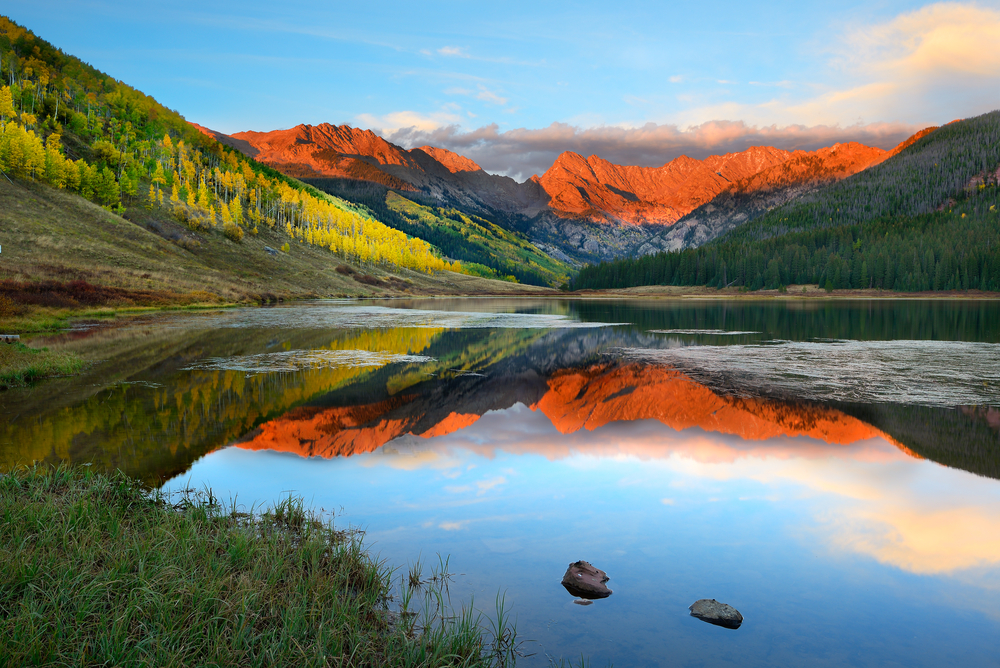 Colorado weekend getaways to Piney Lake in Vail