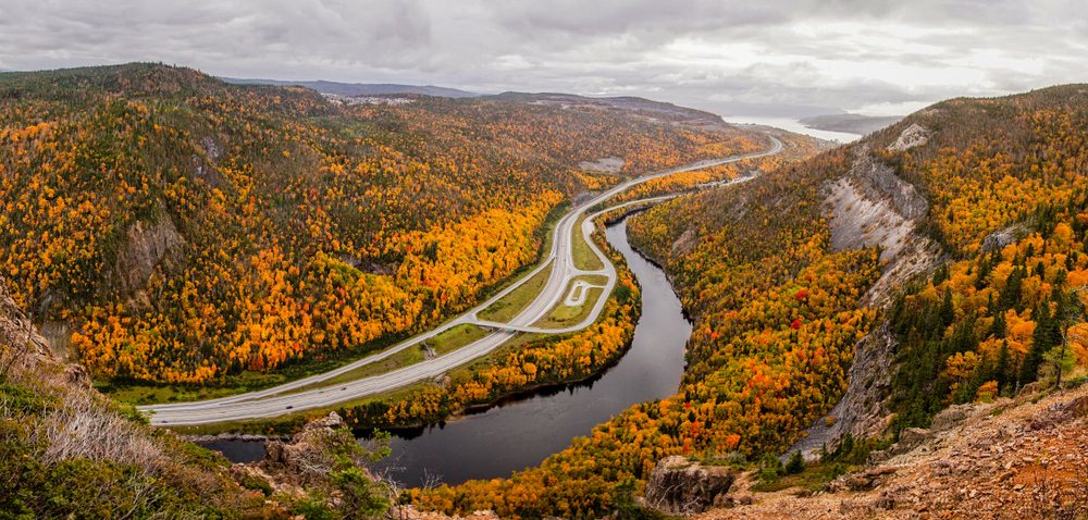 This stunning view of fall in Canada can be found in Corner Brook