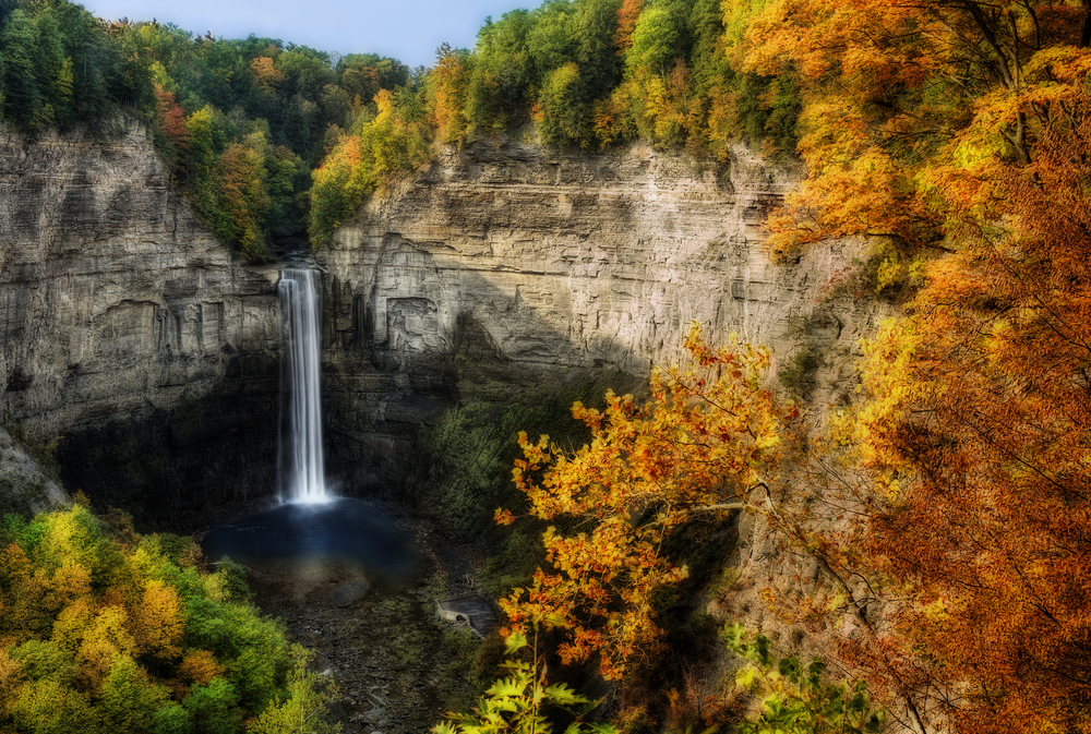 there's many waterfalls to see at the finger lakes in new york