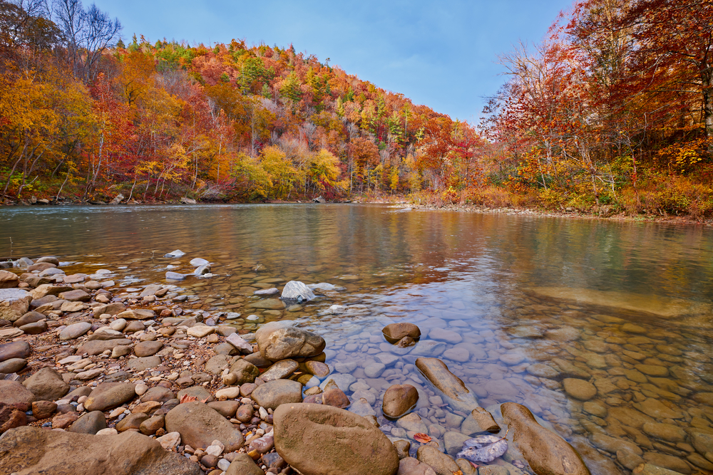 Big South Fork River during fall