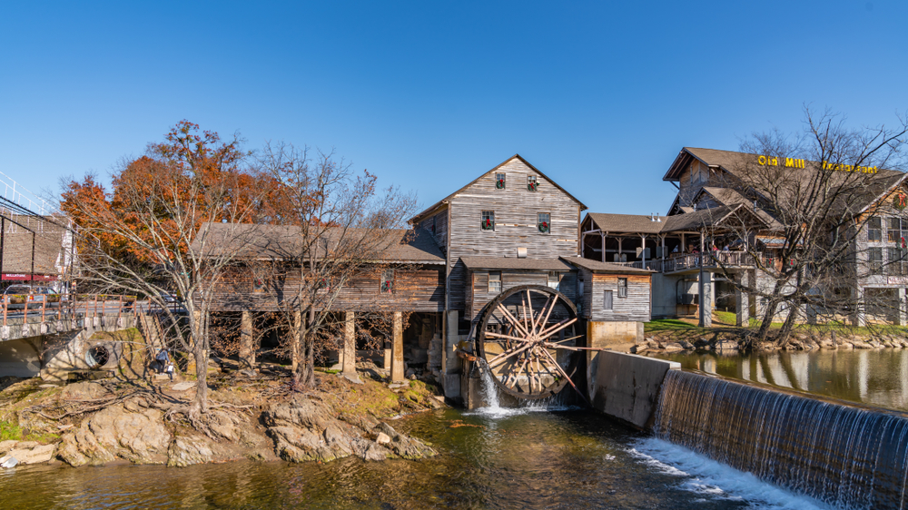 An old mill in Pigeon Forge town