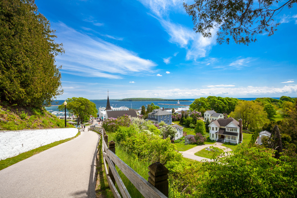 Mackinac Island is a place where no cars are allowed!