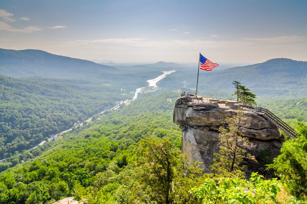 Chimney Rock at Chimney Rock State Park on your North Carolina road trip
