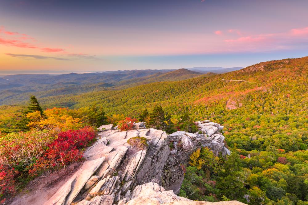 Grandfather Mountain at dawn on your North Carolina road trip