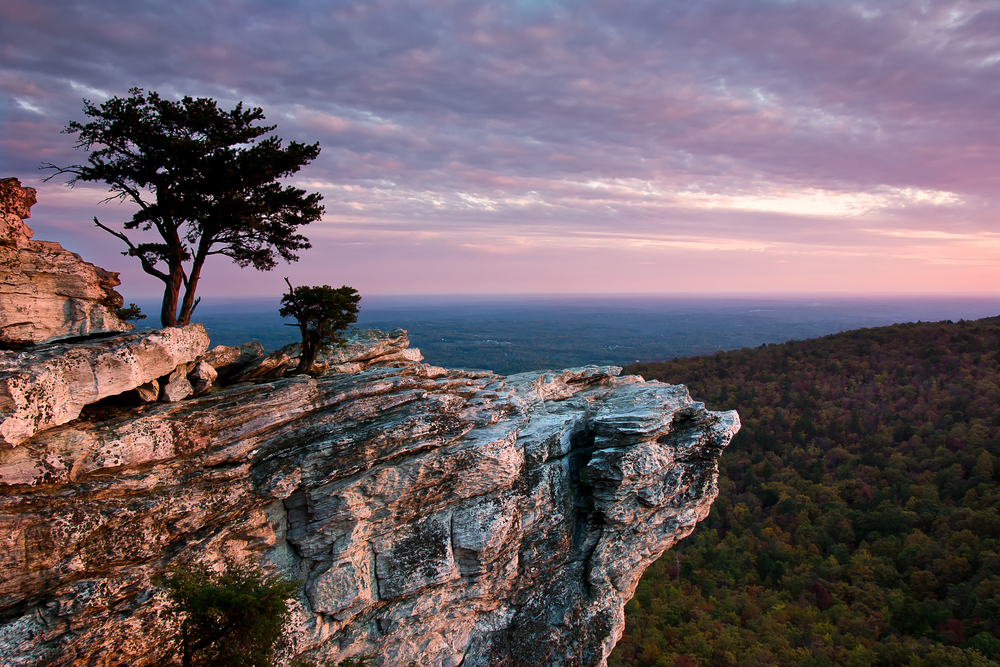 sunset at Hanging Rock on your North Carolina road trip