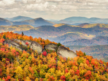 hiking down Grandfather Mountain on your North Carolina road trip