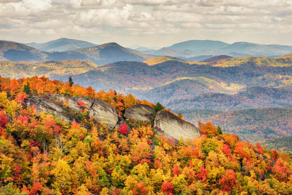 hiking down Grandfather Mountain on your North Carolina road trip