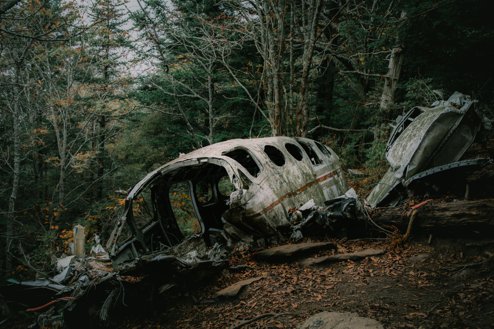 an eerie plane crash site on your North Carolina road trip