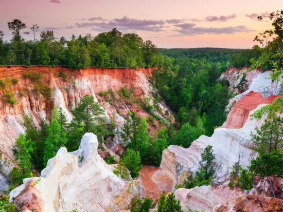 Providence Canyon is regarded as one of the seven wonders of Georgia