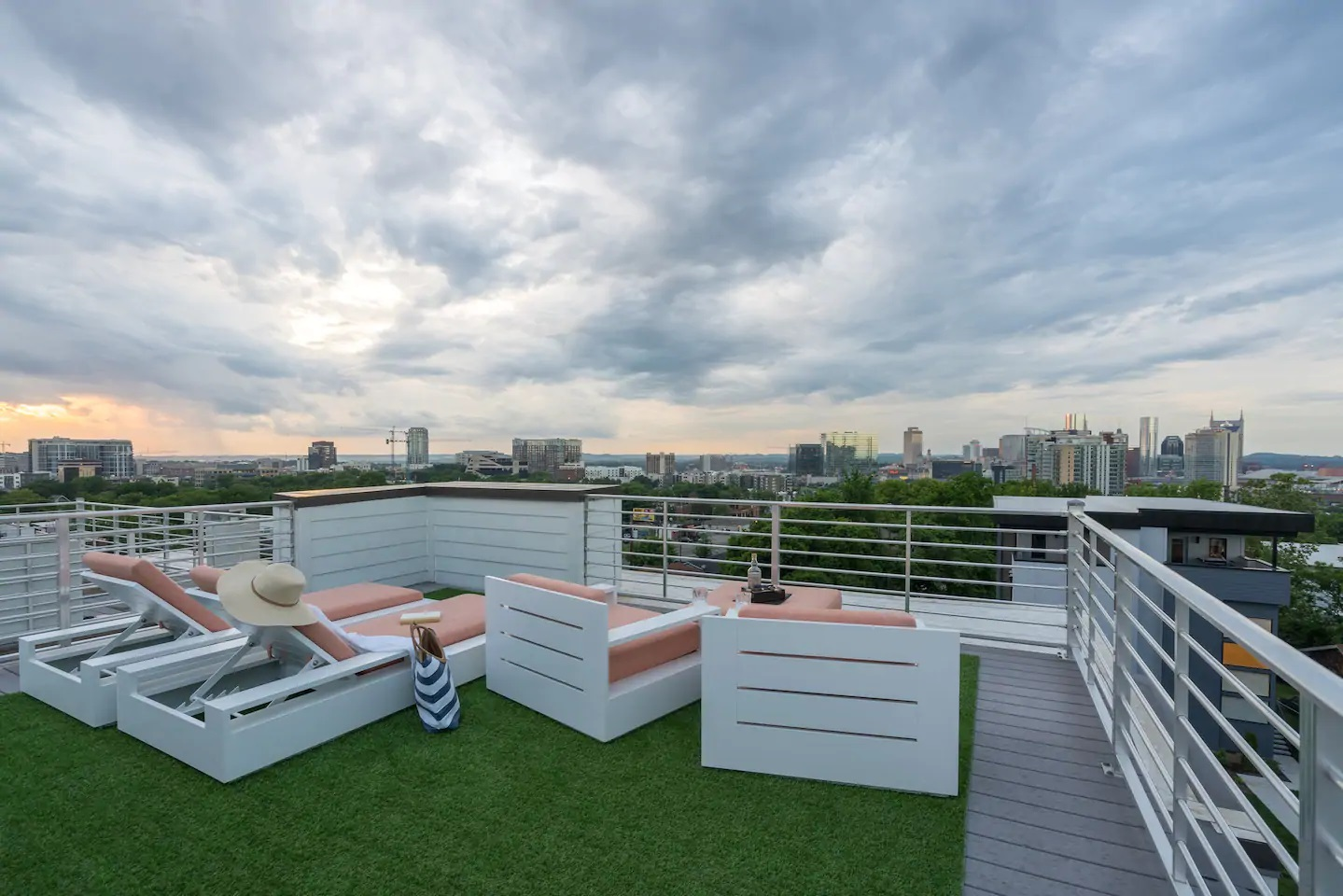 Photo of the rooftop living space at an Airbnb in Nashville.