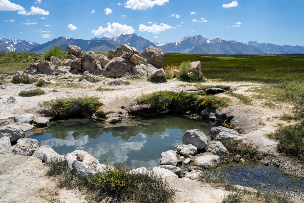 Heart shaped hot spring at Wild Willy's, one of the best natural hot springs in California