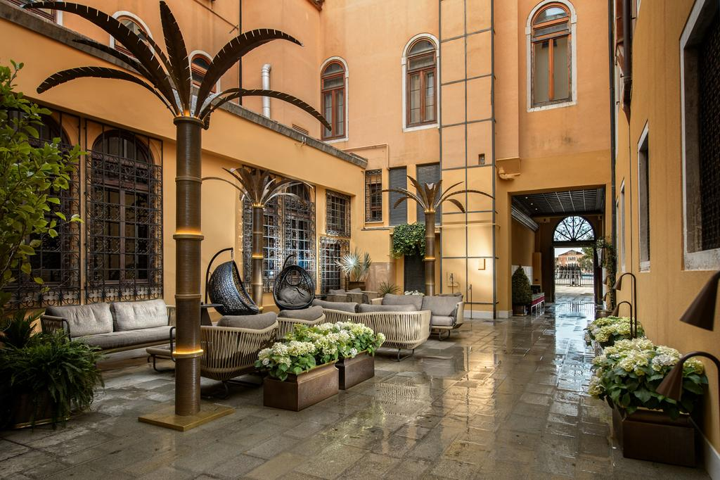 Hotel Palazzo Veneziano offers beautiful views of the neighboring canal