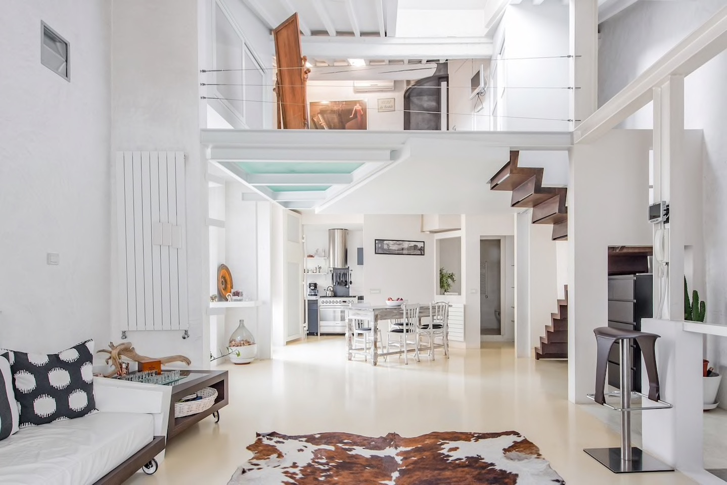This Florence Airbnb is a trendy architects loft with unique features.