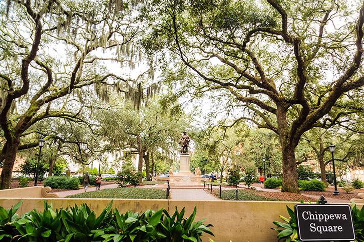 Chippewa Square in Savannah