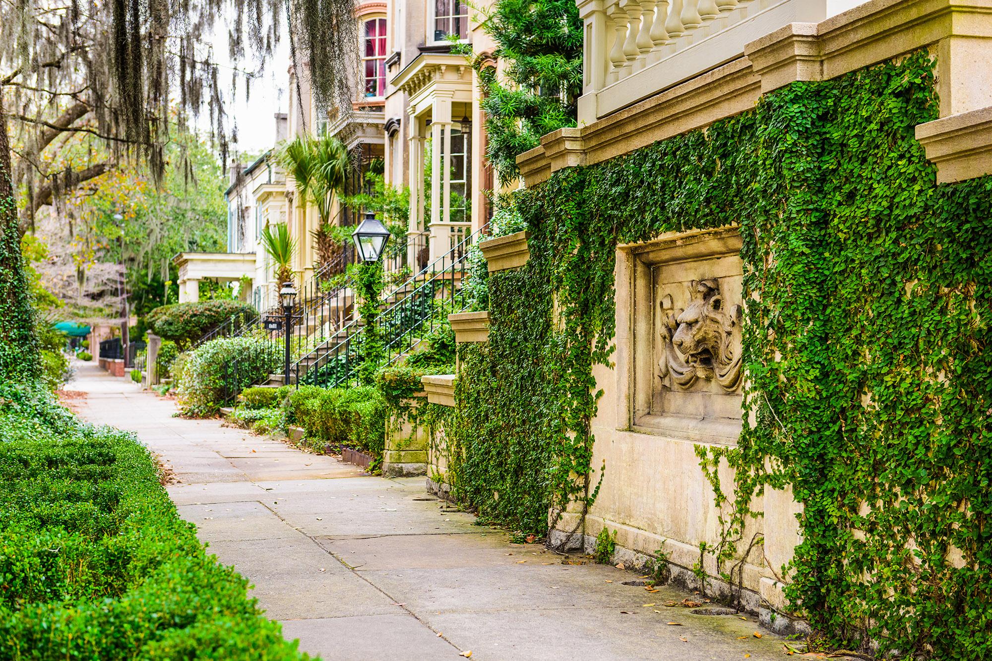 Street scape in Savannah
