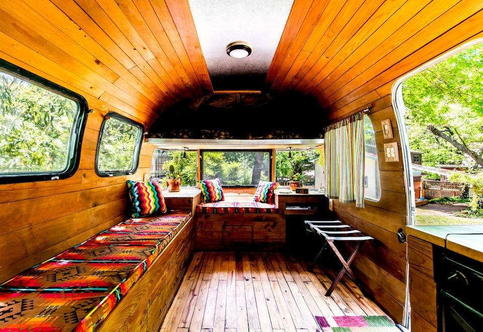photo of the vintage airstream a trendy airbnb in Dallas