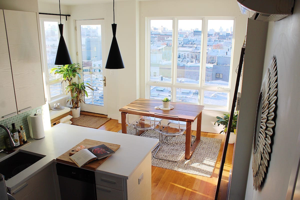 photo of the bright ultimate view with balcony, one of the best airbnbs in nyc