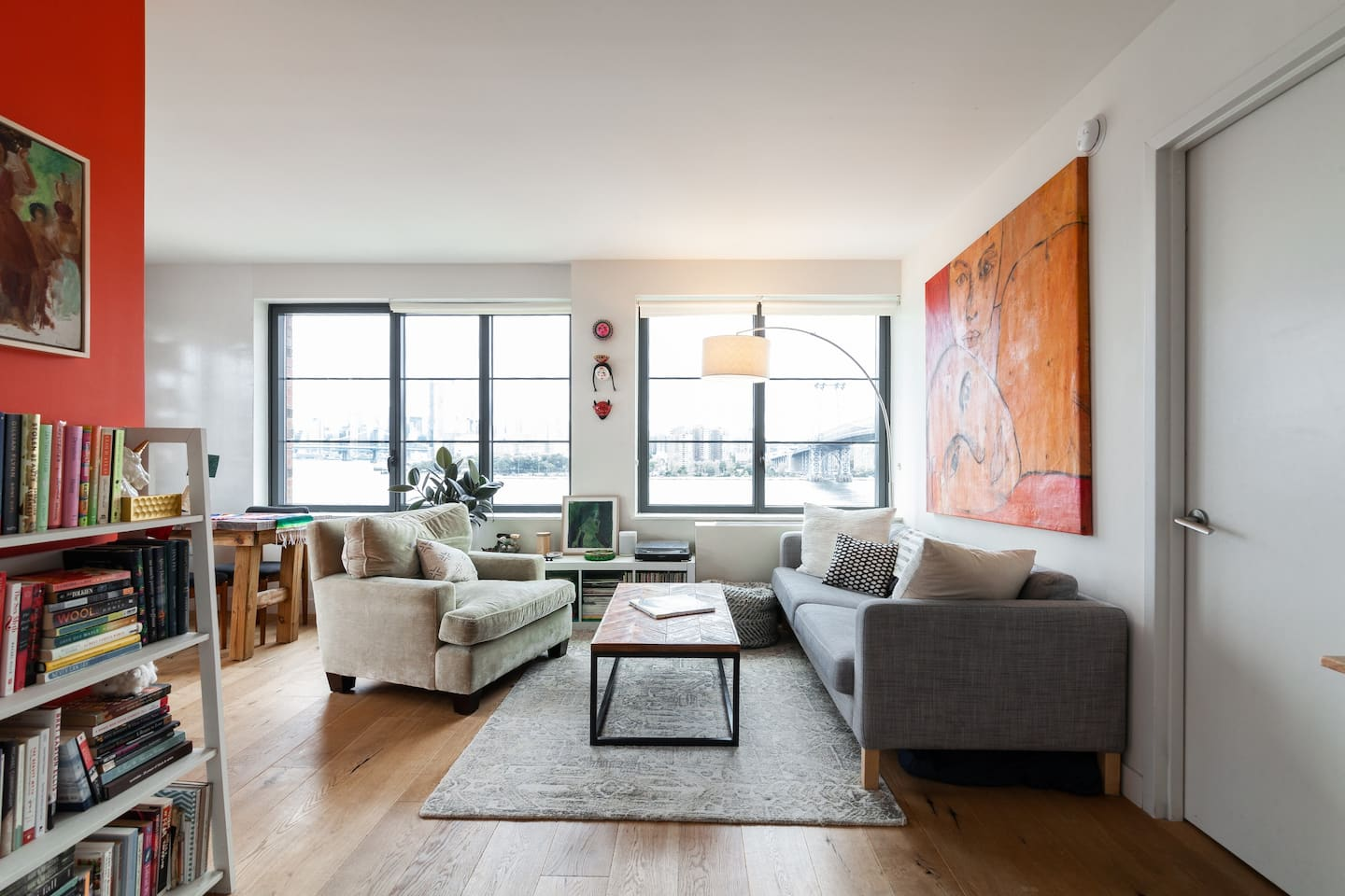 photo of the stunning, artistic, Williamsburg apartment one of the best airbnbs in nyc