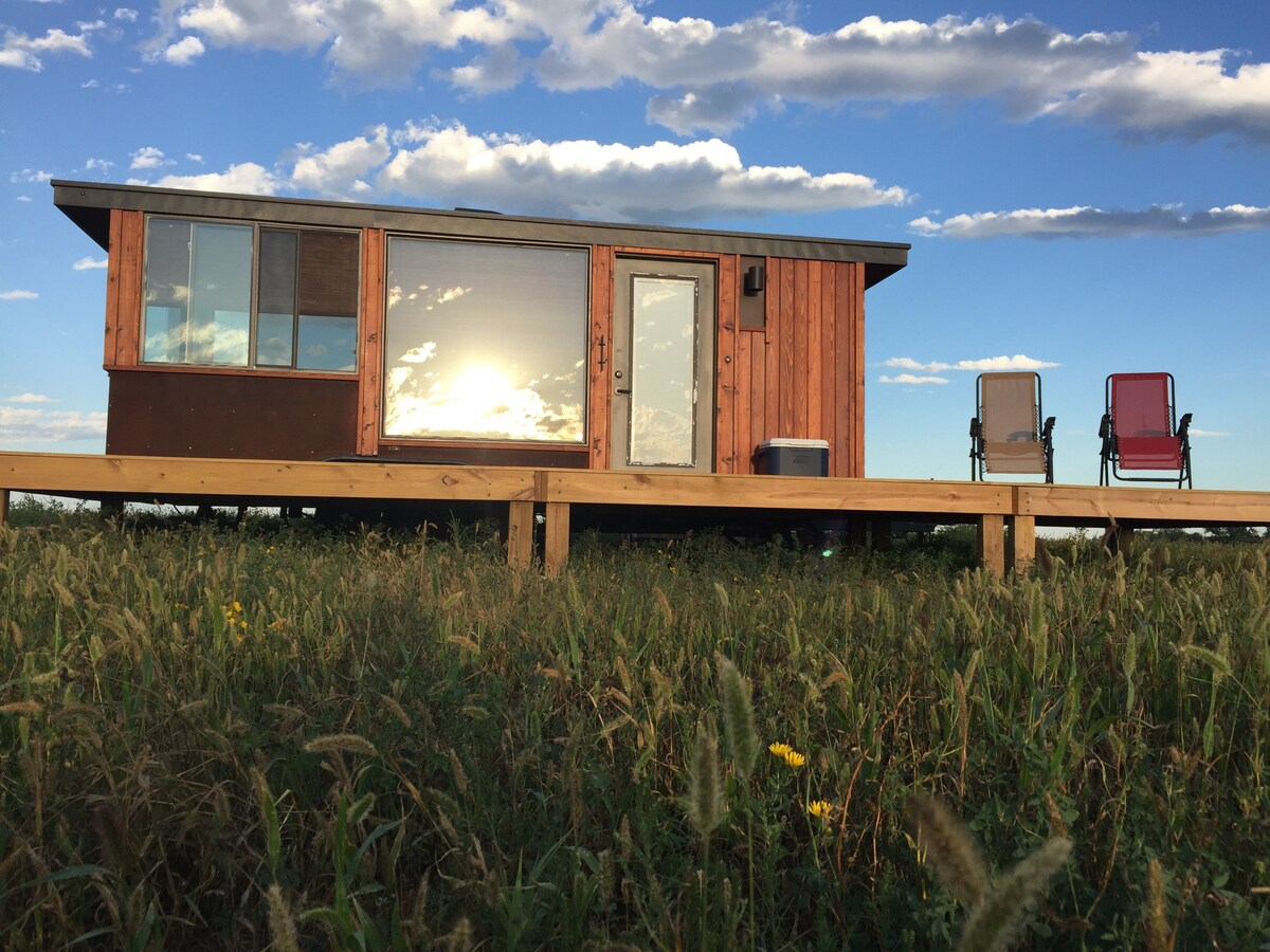Photo of Micro-Cabin in Pheasant Country Airbnb in Mansfield South Dakota