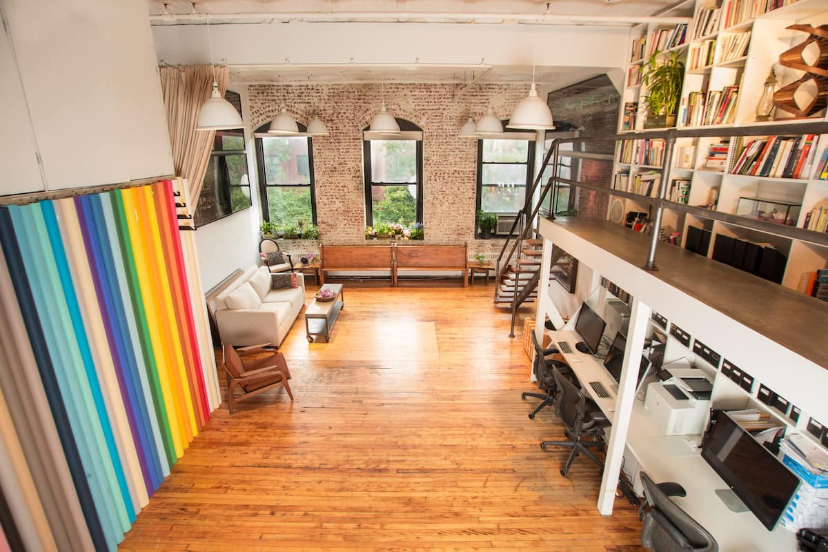 photo of the stunning and spacious art loft
