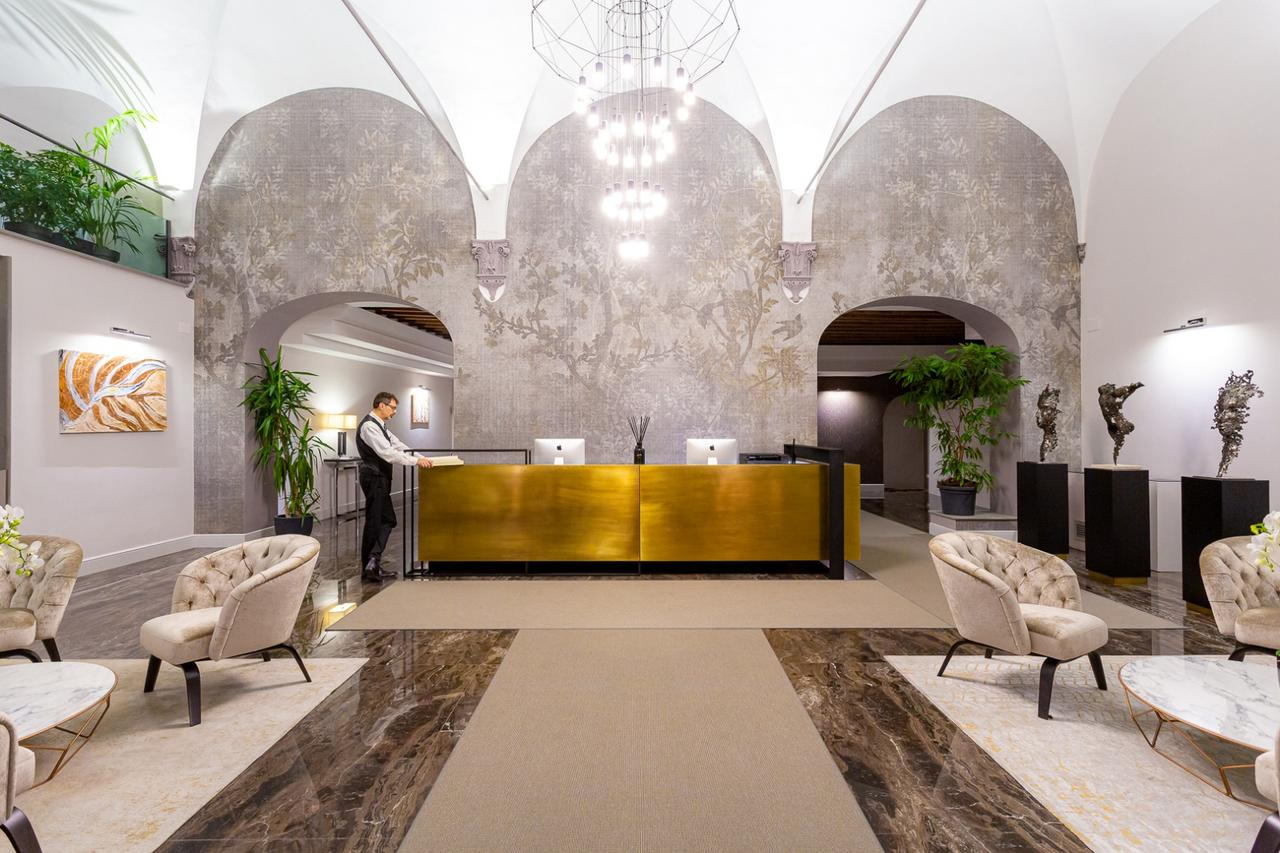 this boutique hotel in florence has beautiful modern interior