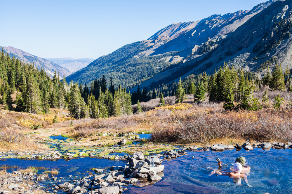 The Conundrum Hot springs offer an elevated view of Colorado.