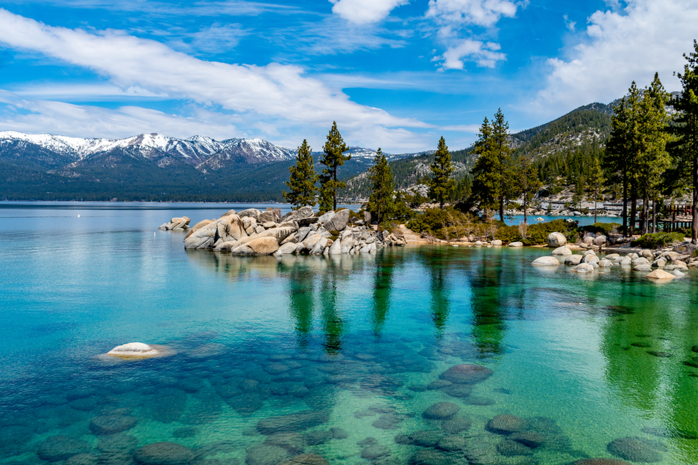 book a Lake Tahoe Airbnb to experience this view of Lake Tahoe