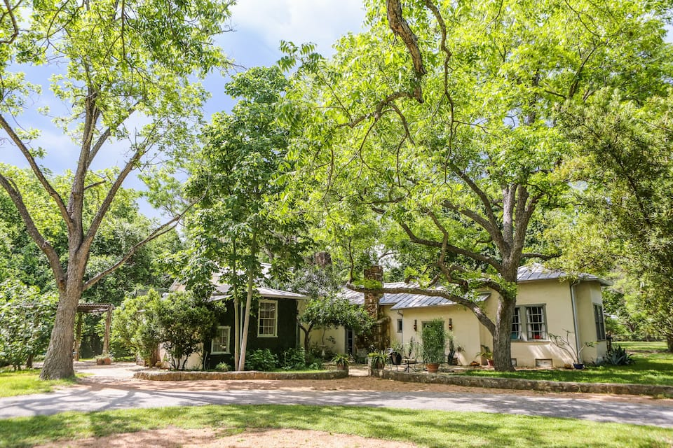 this historic house on the San Antonio River is one of your options for San Antonio Airbnbs