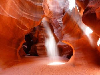amazing slot canyons in arizona with light