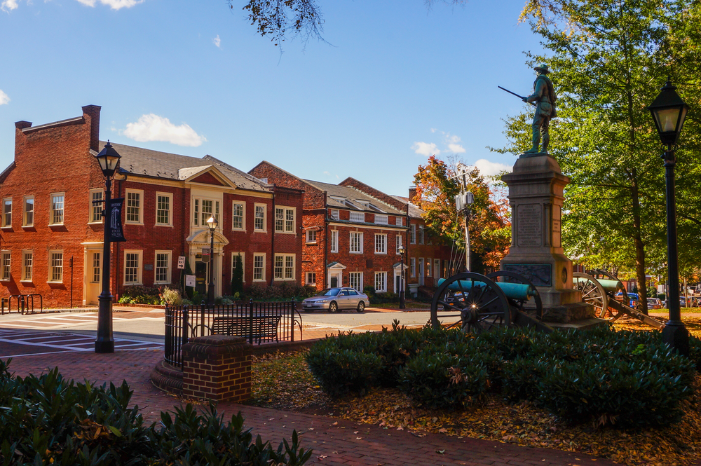 Charlottesville is home to many historical sites, such as Thomas Jefferson's plantation..