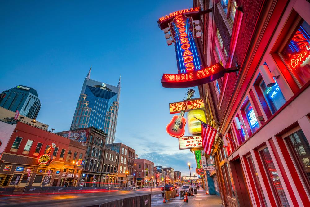 Broadway in Nashville, TN