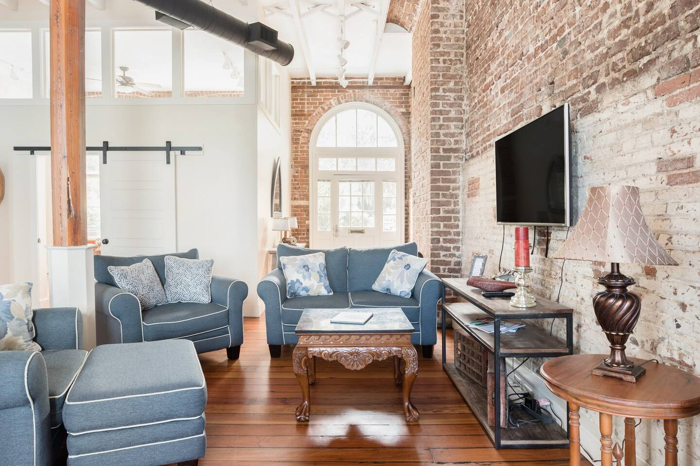 Downtown Riverfront Condo With Industrial Accents Airbnb in Savannah