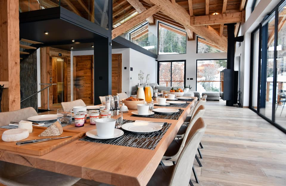 photo of black stone luxury chalet one of the best airbnbs in France